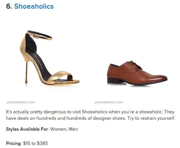 nom chaussure