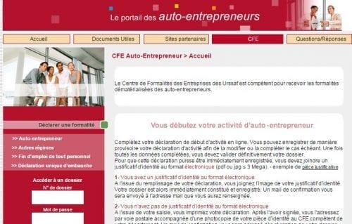 auto entrepreneur declaration