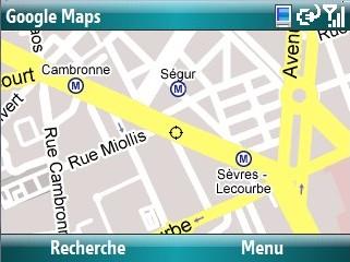 Google maps sur windows mobile 6