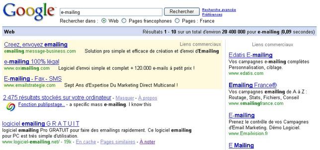 pub e-mailing