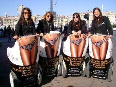 street marketing marseille lingerie