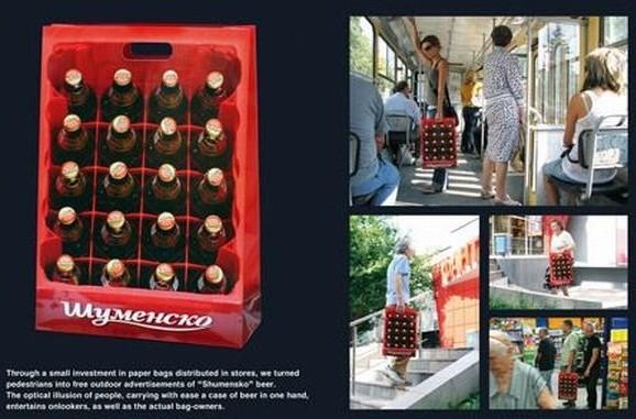 publicité street marketing bière