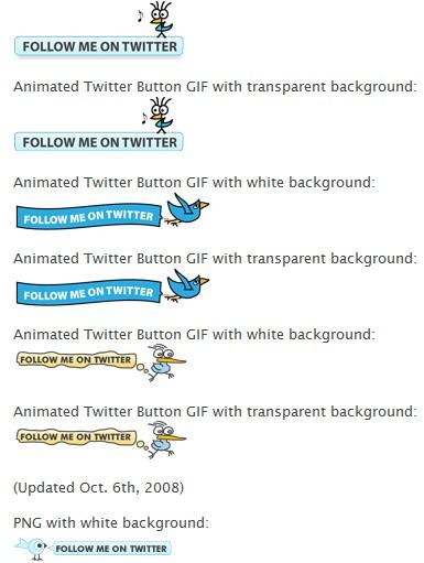 bouton suivez moi sur Twitter