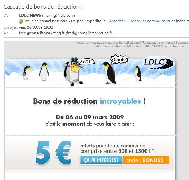 emailing réduction LDLC
