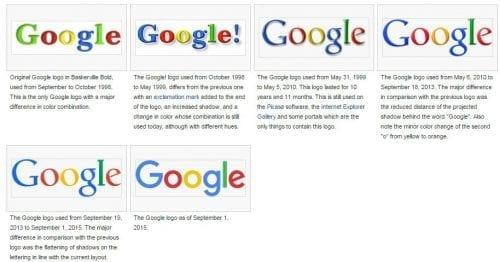 les logos de google