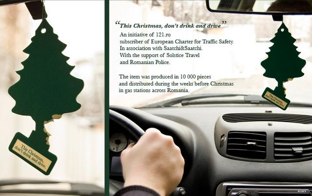 la pub du jour sapin prévention routière