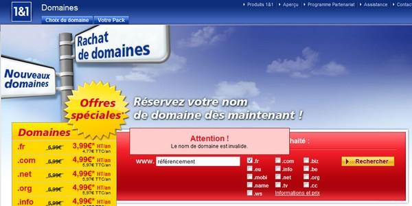 nom de domaine accentué en .fr