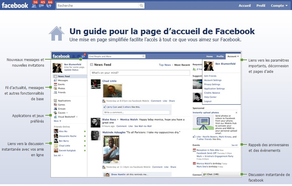 page accueil facebook