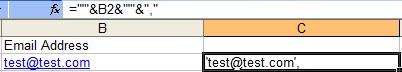 ajouter des caractères avant et après une cellule sur excel