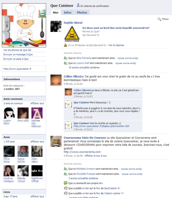 profil facebook pour business
