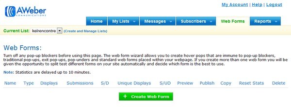 create web form