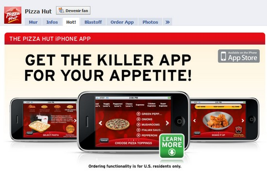 page facebook pizza hut