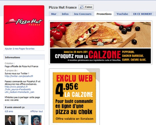 facebook pizza