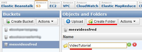 create folder amazon s3