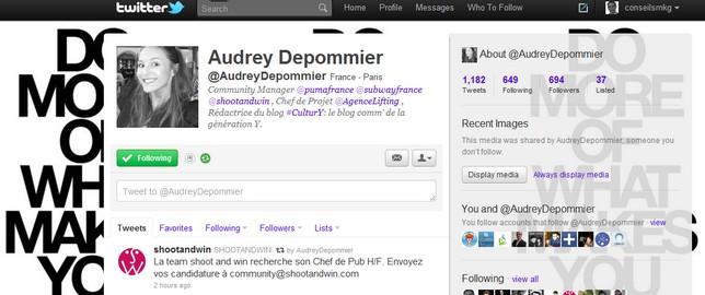 Le Metier de Community Manager : Audrey Depommier (Puma, Subway…)