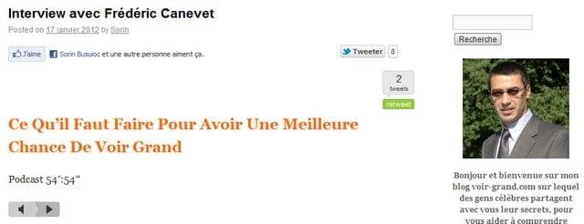Interview ConseilsMarketing.fr sur Voir-Grand.com 2