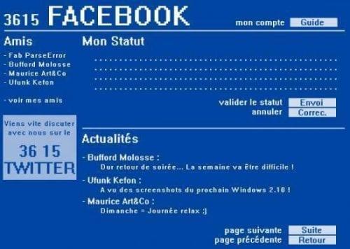 facebook minitel