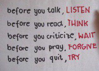 réfléchir avant de parler