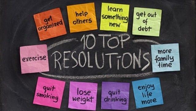 top bonnes résolutions
