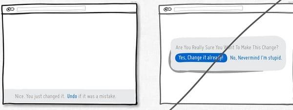ergonomie message erreur