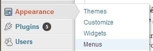 menus wordpress