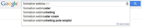 google suggest mots clés
