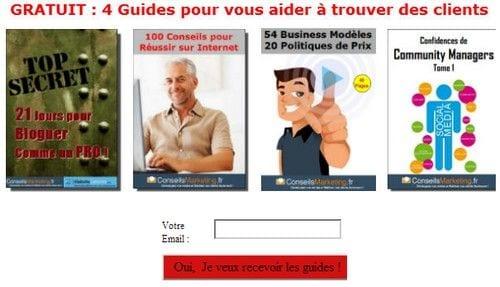 5 guides marketing gratuits