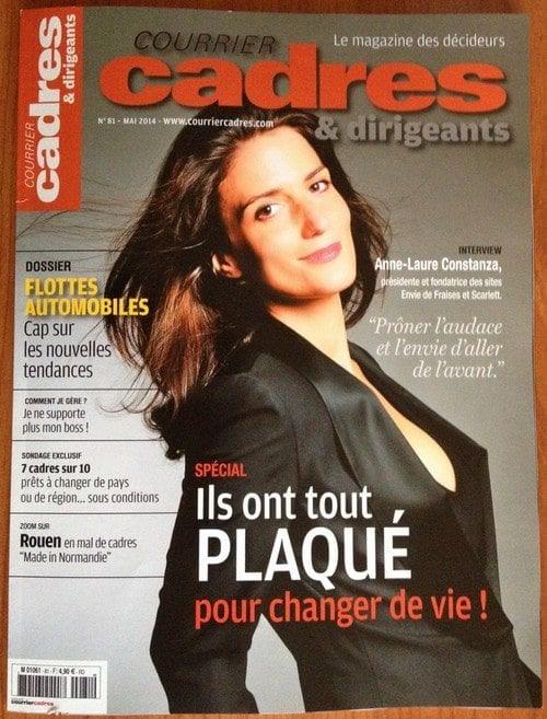 """ConseilsMarketing.fr dans """"Courrier cadres"""" de Mai 2014 : Je ne supporte plus mon boss ! 1"""