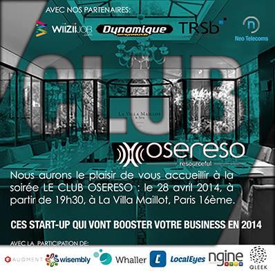 Ces start-up qui vont booster votre business en 2014 - Conférence OSERESO 1