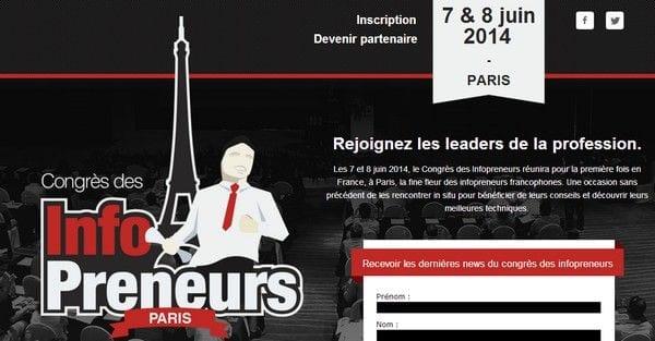 Nouveau : Le Congrès des Infopreneurs les 7 et 8 juin 2014 12