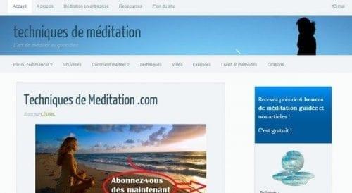 techniques de meditation