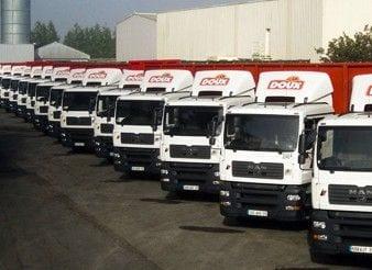 camions rangés