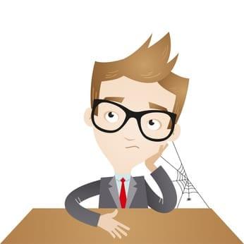 Businessman, bored, desk, humdrum