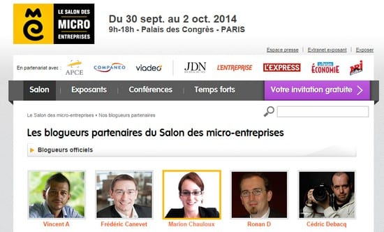 Rdv du 30 septembre au 2 octobre au salon des micro for Salon micro entreprise