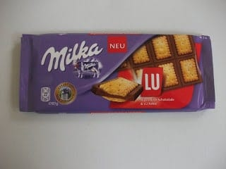 milka chocolate with LU kekse