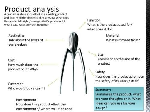 summary of a product analysis