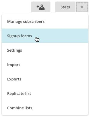 lists_dropdown_signupforms