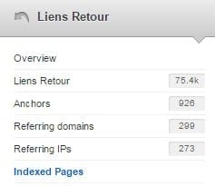 analyse pages indexees