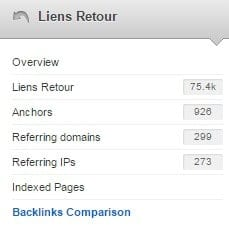 comparaison backlinks