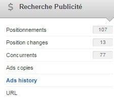 recherche adwords