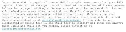 spam seo