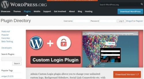 custom login wordpress