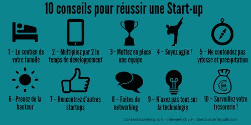 10 conseils pour réussir sa startup