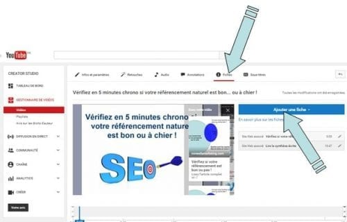 fiches youtube