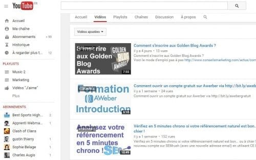 youtube et ecommerce