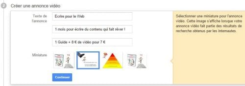 annonce adwords