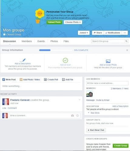 groupe privé facebook
