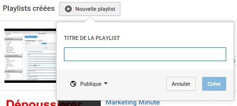 nom de la playlist