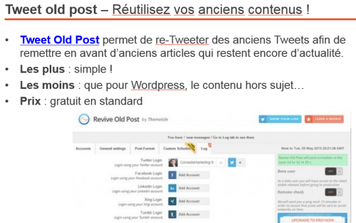 tweet old post plugin wordpress