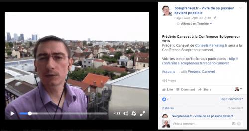 facebook native content